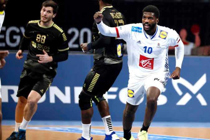 Handball WM 2021 - Frankreich vs Portugal - Dika Mem - Copyright: FFHANDBALL / S.PILLAUD