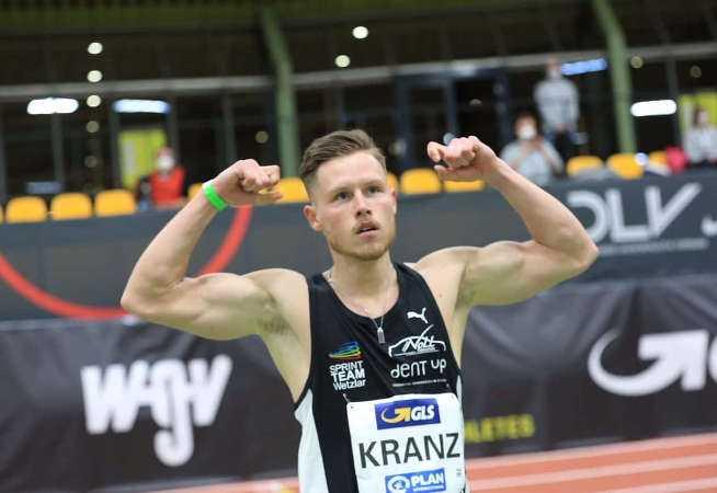 Kevin Kranz - Leichtathletik Hallen DM 2021 - Foto: Theo Kiefner