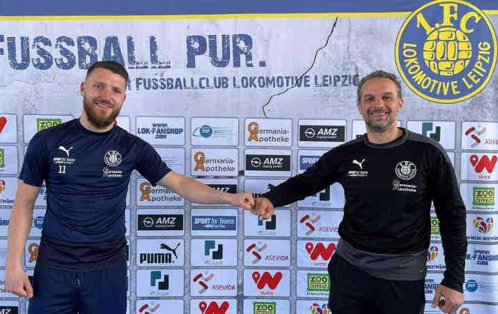 Fußball Regionalliga Nordost - Tom Nattermann und Almedin Civa - Foto: 1. FC Lok Leipzig