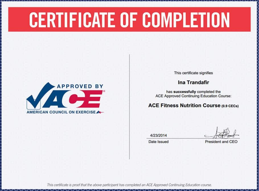 Ace Personal Training Certification
