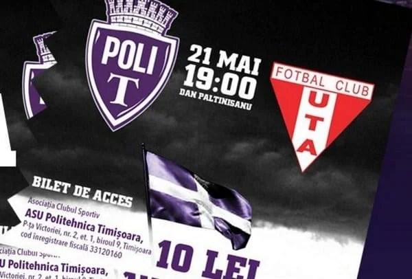 """Derby-ul Vestului se joacă pe 21 mai, în nocturna de pe """"Dan Păltinișanu""""!"""