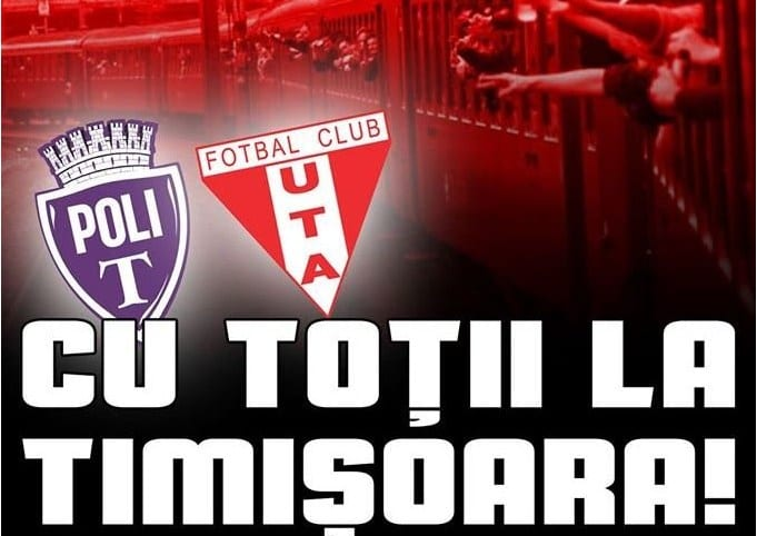 Bilete la Poli – UTA, de mâine și la Arad