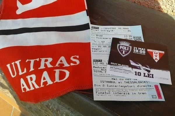 Primul calup de bilete la derby-ul Vestului – aproape epuizat, alte 500 de bilete sosesc mâine la Arad