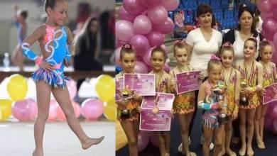 Photo of Kaitlyn Varga, fiica fotbalistului Norbi Varga, a luat aurul național la gimastică ritmică!