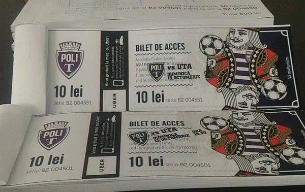 Biletele la Poli – UTA se pun în vânzare de mâine (și) la Arad