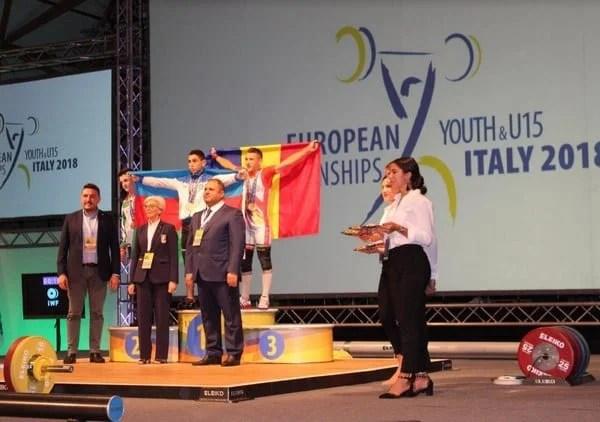 Cosmin Krupla și Dorina Tofan, triplu medaliați europeni la haltere!