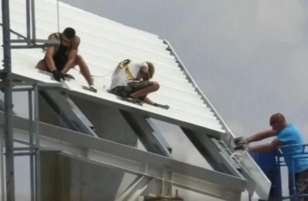 """Stadionul """"Francisc Neuman"""" va avea un acoperiș deasupra capului până în prima lună de toamnă"""