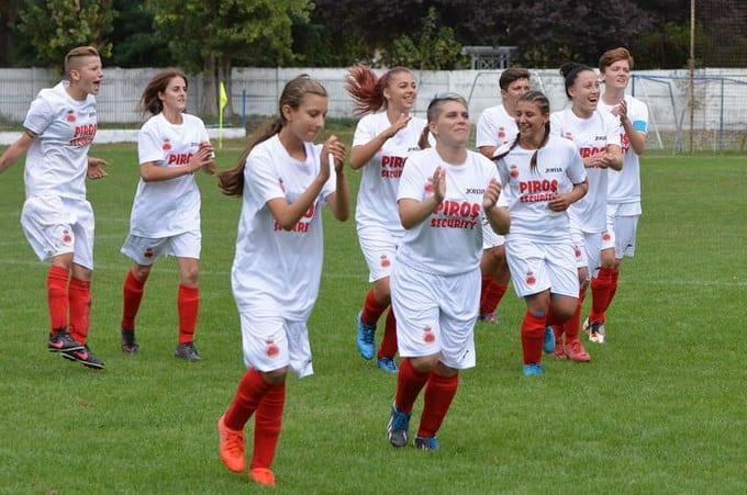 Goleadă și în Cupă în derby-ul Aradului la fotbal feminin: CS Ineu - AC Piroș Security  4-11