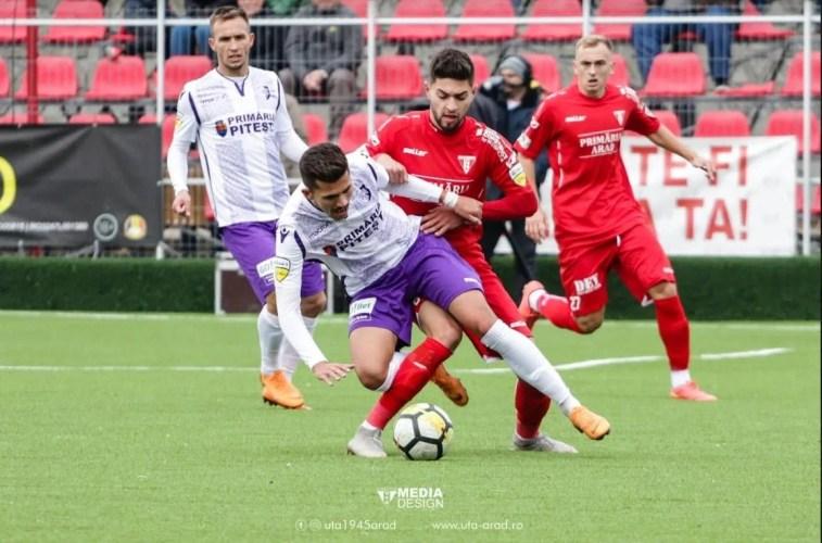 Livetext, ora 13.00 : UTA - FC Argeș  1-2, final