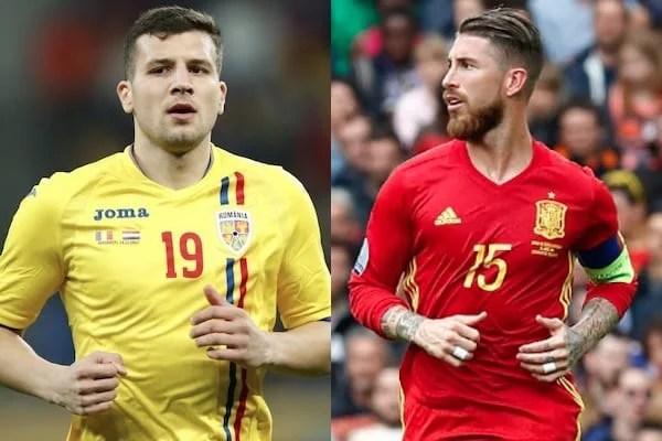 Preliminarii Euro 2020: România - în Grupa F, cu Spania mare favorită la calificare și Țucudean - față în față cu Ramos