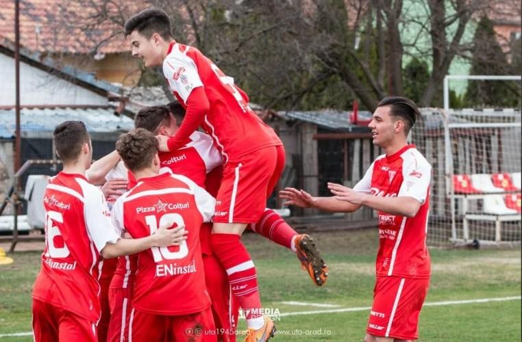 După succesul în Liga 4-a, UTA Under 19 a câștigat și în Liga Elitelor