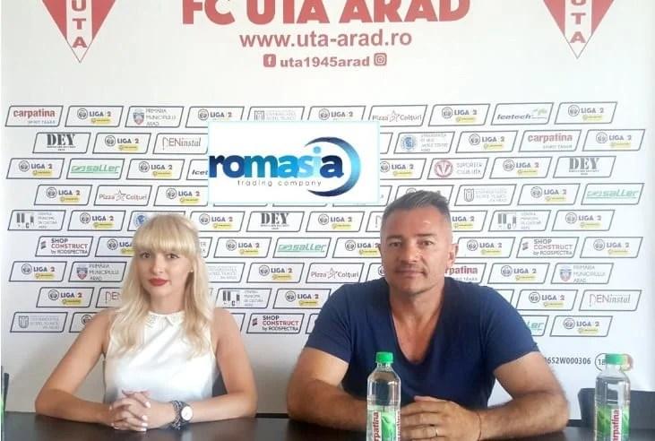 ROMASIA, un nume nou pe lista de sponsori a clubului UTA