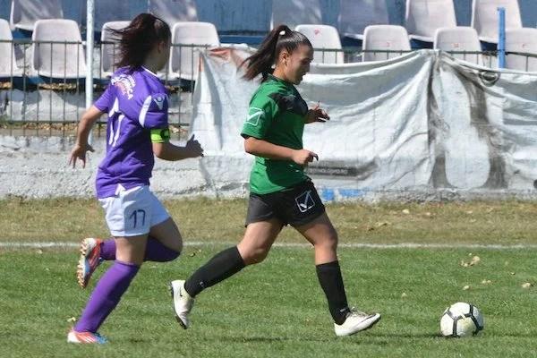 Elevele lui Dani Mărcuș au început cu dreptul sezonul în Liga feminină U15: CS Ineu - ASU Poli 2-0 +FOTO