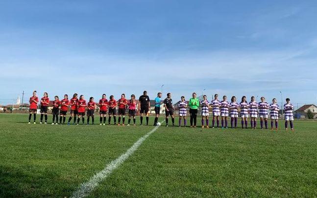 Fotbalistele Viitorului salvează onoarea Aradului în etapa a doua a campionatului național U15
