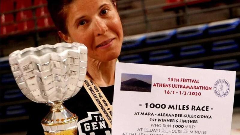 """""""Stundenta"""" Mara Guler, prima alergătoare din România care  a terminat cursa de 1000 de mile"""