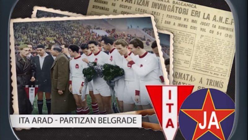 """Imagini document cu UTA din toamna anului 1947: """"Roș-albii"""" au înfruntat campioanele Yugoslaviei și Ungariei la """"Cupa Sindicală Balcanică"""""""
