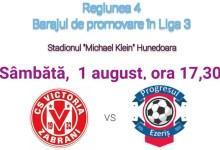 Photo of Livetext, ora 17.30, baraj promovare liga 3-a: Victoria Zăbrani – Progresul Ezeriș 1-1 și 2-3 după penalty-uri
