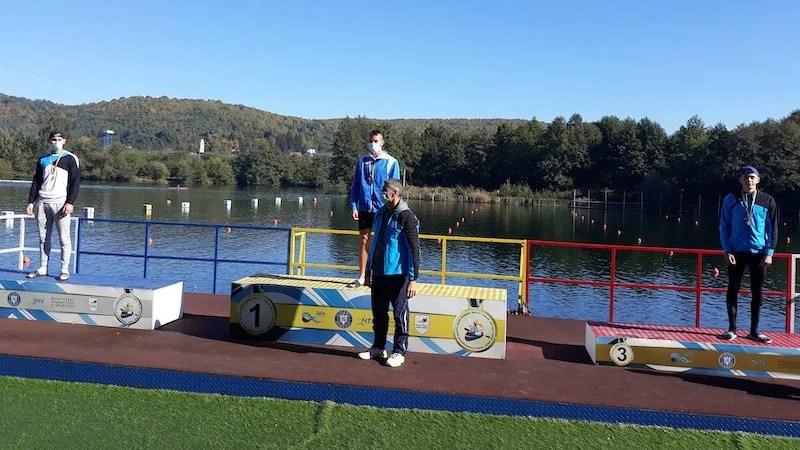 David Marian, medaliatul CSȘ Gloriei la ultimele competiții oficiale ale anului de kaiac-canoe