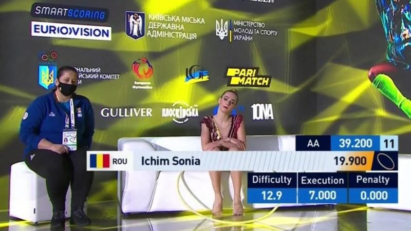 Arădeanca Sonia Ichim, parcurs pozitiv la debutul în Europenele de ritmică a senioarelor