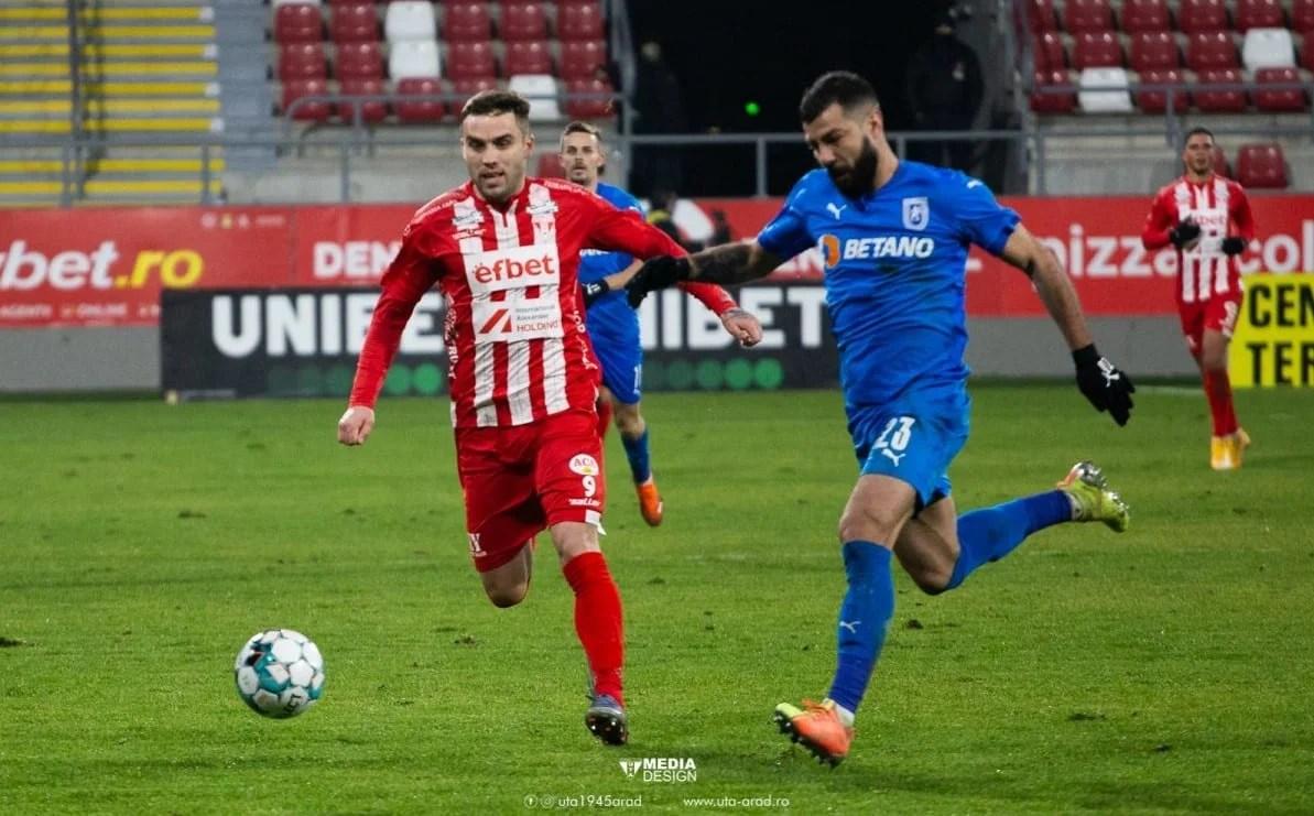 """Alex Ioniță se desparte de UTA, fostul atacant al lui Koln termină cu 8 goluri și 8 asisturi aventura sa în tricoul """"roș-alb"""""""