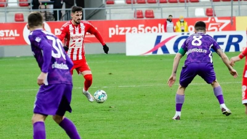 """Albu, joc aproape perfect până la golul de 1-1 al Argeșului: """"Neatențiile ne-au costat, la Iași trebuie să câștigăm cu orice preț"""""""