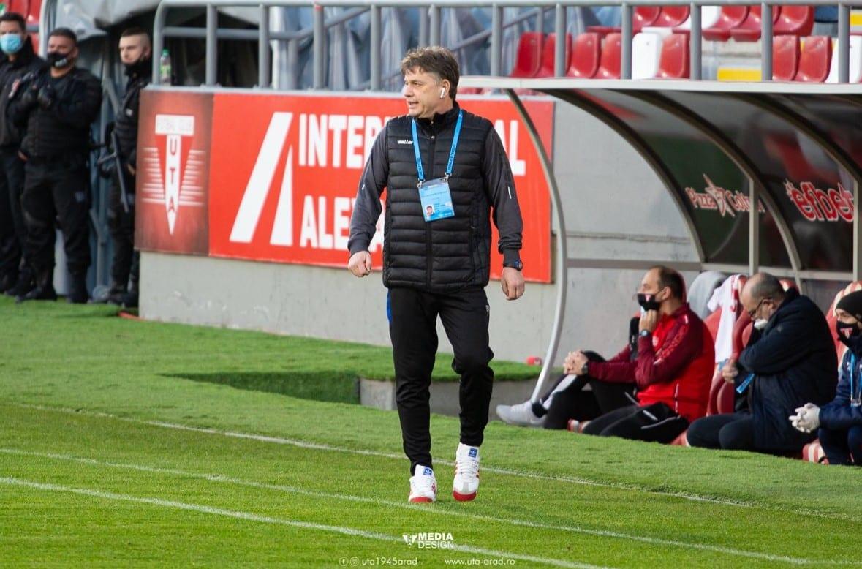 """""""Interimatul"""" lui Vasiliu a produs un punct important pentru UTA: """"Echitabil după aspectul jocului, am suferit puțin la finalizare"""""""
