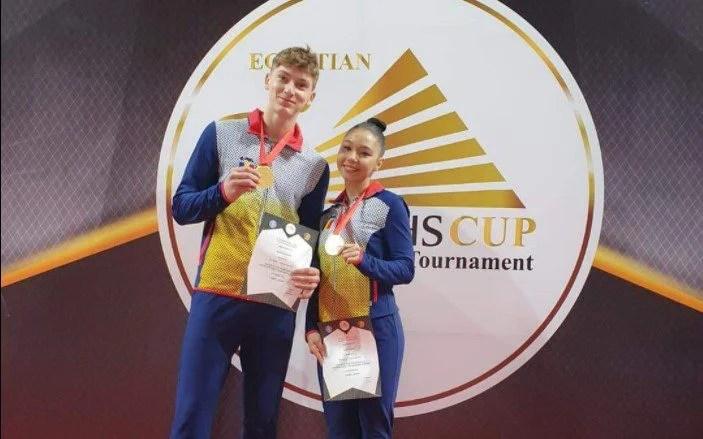 """Studentul"" Darius Branda, ""aur"" la ""Pharahos Cup"" la gimnastică aerobică"