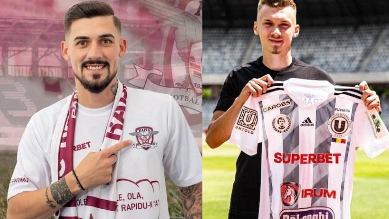 Albu va fi adversarul UTA-ei în Liga 1 în tricoul Rapidului, Tescan a ales Universitatea Cluj