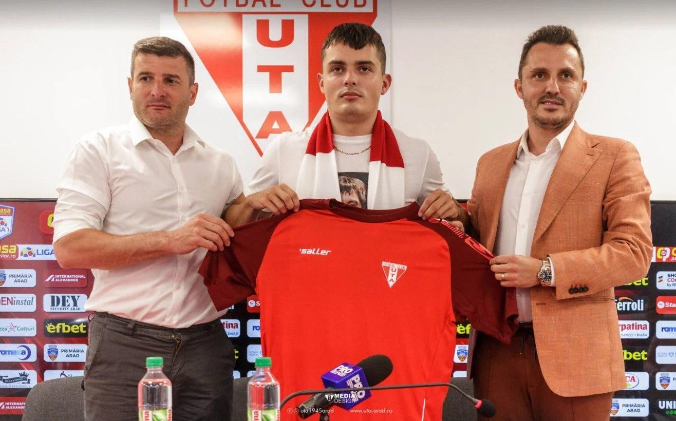 """Prieten cu Vorobjovas și servant al lui Antal, RolandasBaravykas susține: """"Am făcut un pas foarte mare, e onoare să joc pentru UTA"""""""