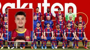 It looks like Philippe Coutinho was photographed in the Barcelona team image