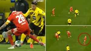 Jadon Sancho showed his skills in the victory of Borussia Dortmund