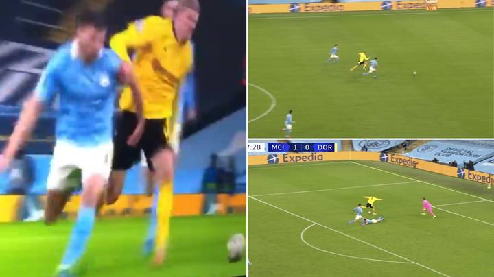 Erling Haaland Absolutely Bodies Ruben Dias In Unbelievable Show Of Strength