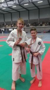 Karate Dojo La Calamine Benjamin Tillmann  und luciano am 25. Januar 15