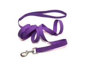 Поводок из прорезиненной стропы 20 мм фиолетовый сталь