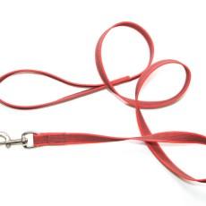 Поводок из прорезиненной стропы 20 мм красный сталь
