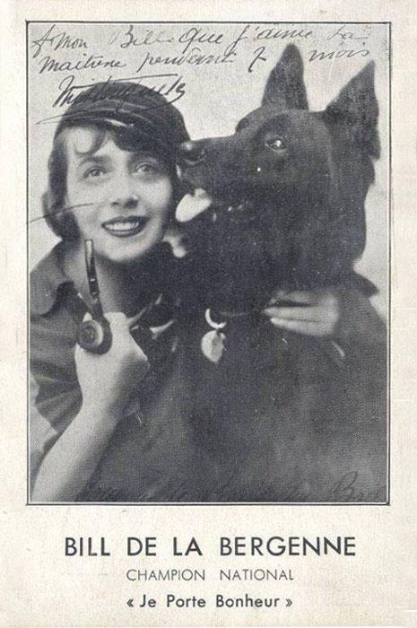Французская актриса и певица Мистангет (1875-1956) с чемпионом Bill de la Bergenne