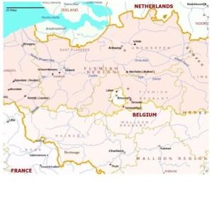 Карта провинций Бельгии