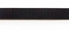 Ошейник текстильный 30 мм черный двойной со стальной пряжкой