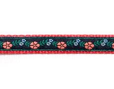Ошейник с декоративной тесьмой шир. 15 мм с пластиковым фастексом с блокировкой