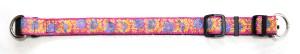 Ошейник с декоративной тесьмой шир. 30 мм с пластиковым фастексом и 2 полукольцами