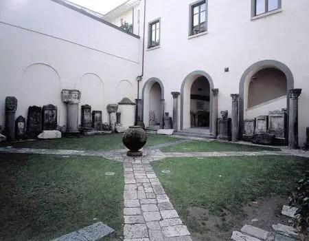 Una immagine dell'interno del museo provinciale Campano di Capua