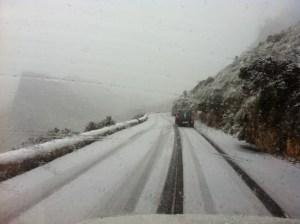 Schnee am Cap Formentor