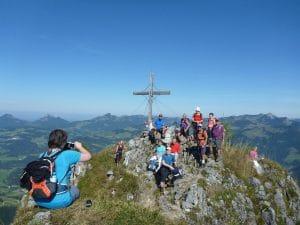 Gipfelfoto am Heuberg