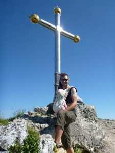 Am Kranzhorn Gipfel
