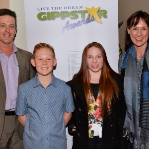 Hon Russell Northe and Ms Melina Bath with swimmers Emily Beecroft and Jordyn Cargill 2 - Gippstar Awards Night 2016