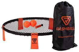 Rashball Roundnet Set | PRO ist bei Uns Standard | Verstärkte Ringelemente | Für Anfänger und Profis | #playeverywhere: Park, Strand & Halle | Set inkl. 2 Bällen, Ballpumpe, Rucksack & Regeln - 1