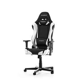 DXRacer Racing Series R0-NW Gaming Stuhl aus Kunstleder, Schwarz-Weiß - 1