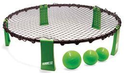 Roundnet Set, komplettes Set für den sofortigen Start, inkl. 3 Bälle, Ballpumpe und Tragetasche, ultimativer Spaßfaktor für Jung und Alt, 970980 - 1