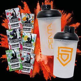 Energy Booster Pulver Probe Pack   GAME CHANGER + eSports Shaker   Wenig Kalorien, Kaum Zucker, Maximaler Geschmack   6 x 7g - 1