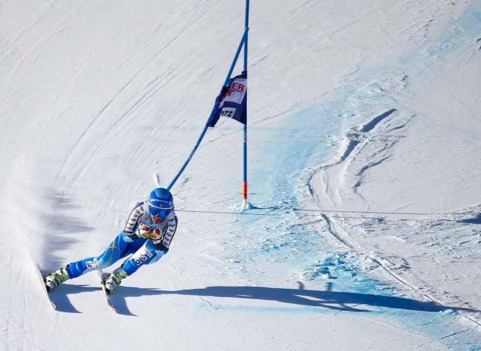 Kajsa Kling, 2. beim Super G-Rennen in St. Moritz